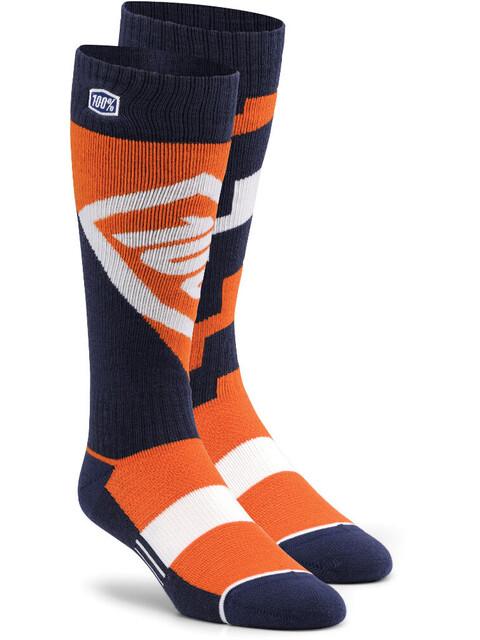 100% Torque Comfort Moto - Calcetines - naranja/negro
